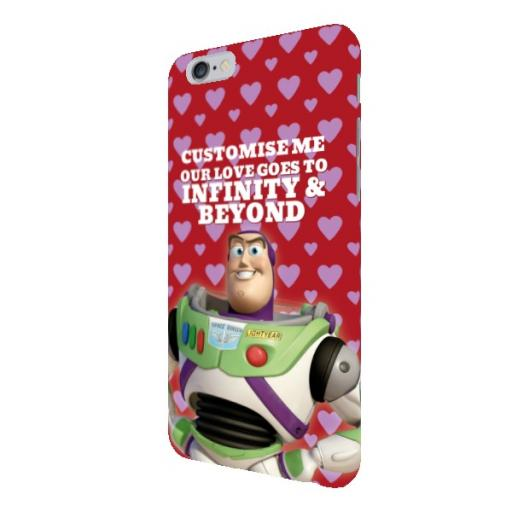 "Disney Toy Story Buzz Valentines ""Infinity & Beyond"" iPhone 6+/6S+ Clip Case"