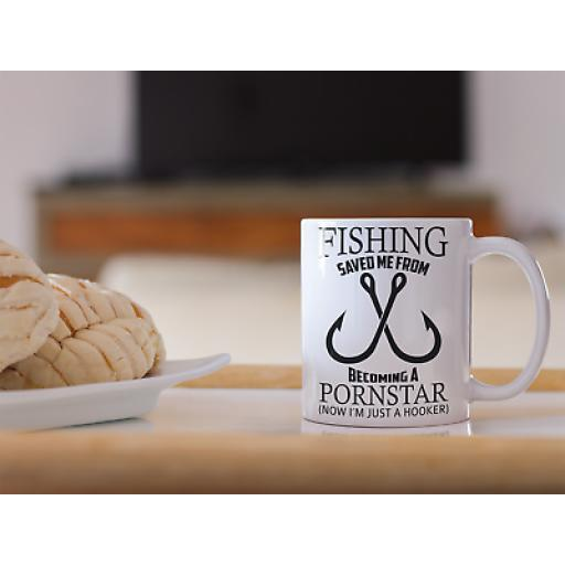 Fishing Save Me From Becoming A Pornstar 11oz Mug Novelty Design Gift Fishing