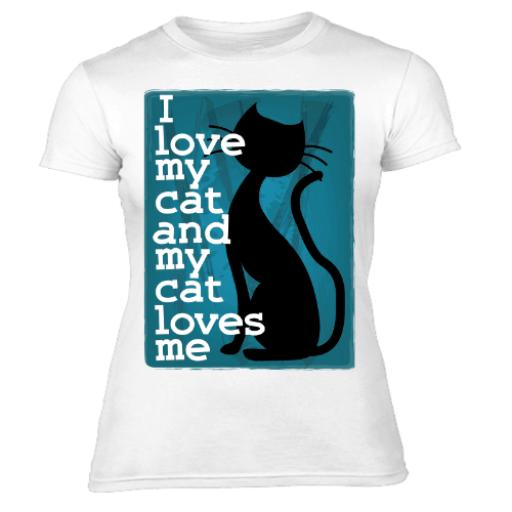 I Love My Cat and My Cat Loves Me Womens T-Shirt