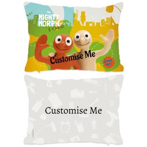 Aardman Morph The Mighty Morph & Chas Extra Large FibreCushion