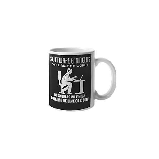 Software Engineers Will Rule The World 11 oz Mug Ceramic Novelty Design Gift