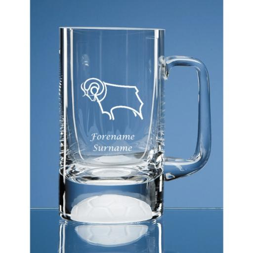 Derby County Crest Half Pint Ball Base Tankard