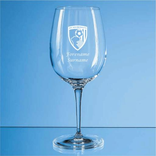 AFC Bournemouth Crest Allegro Wine Glass