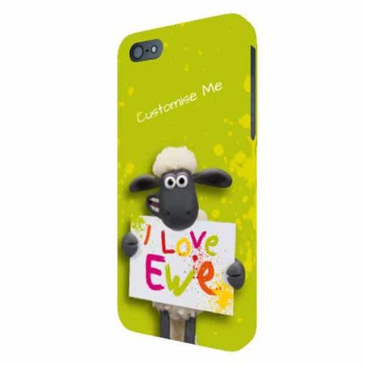 Aardman Shaun The Sheep Valentines Print iPhone 5/5s/5SE Clip Case