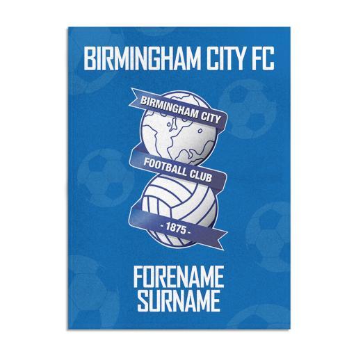 Birmingham City FC Crest Blanket (150cm x 110cm)