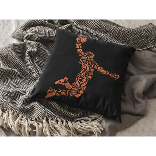 Slam Dunk- Basketball Themed Cushion Cover - Decorative Smooth Linen - Gift