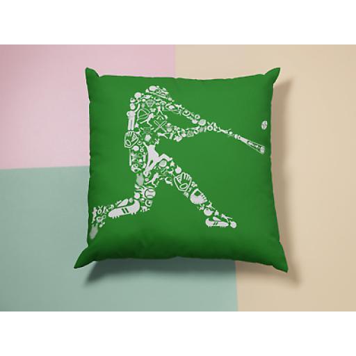 Baseball Player Cushion Cover -Decorative Smooth Linen - Baseball Fan Gift