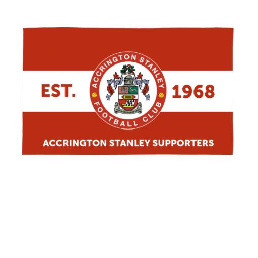Accrington Stanley Supporters 5ft x 3ft Banner