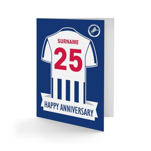 Millwall FC Shirt Anniversary Card