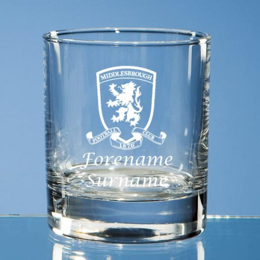 Middlesbrough FC Crest Old Fashioned Whisky Tumbler