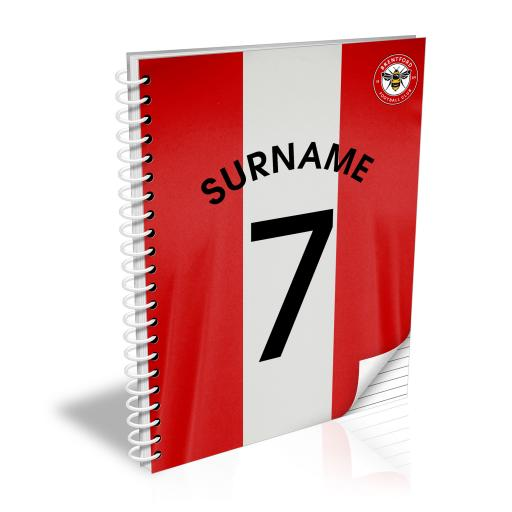 Brentford FC Shirt Notebook
