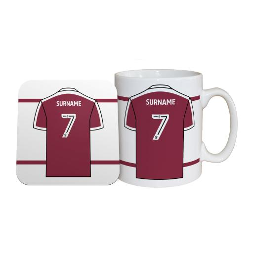 Northampton Town FC Shirt Mug & Coaster Set