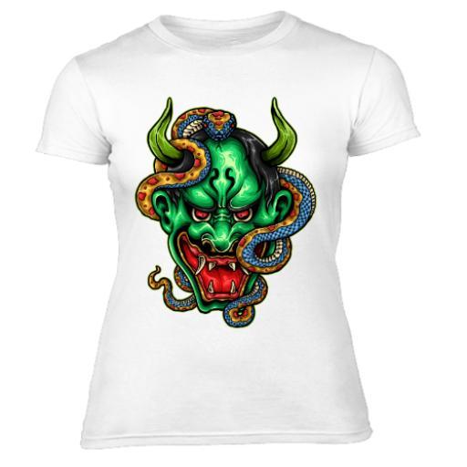 Japanese Demon Of The Snakes Women's T-Shirt