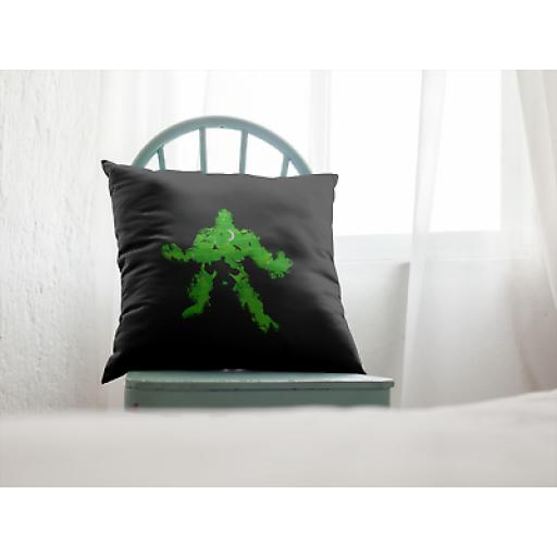 Green Monster Hulk Cushion Cover-Decorative Smooth Linen-Novelty Gift