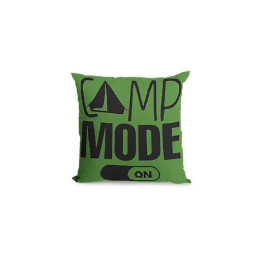Camp Mode On Cushion Cover - Decorative Linen - Camping inspired Gift