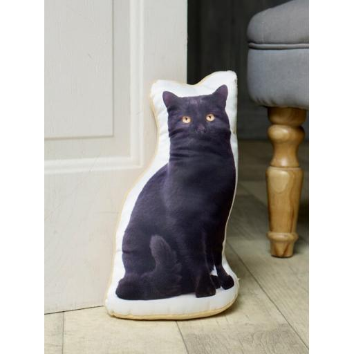 Attention Cat Lovers-Vivid Image Black Cat Shaped Doorstop