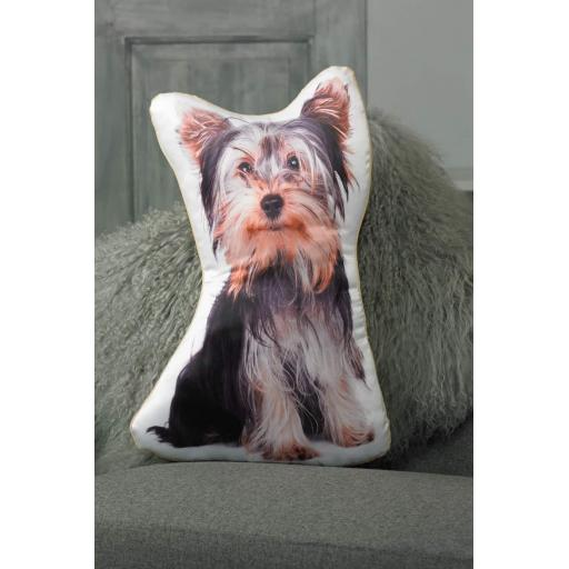Yorkshire Terrier (Yorkie) Shaped Cushion Perfect Gift For Dog Lovers