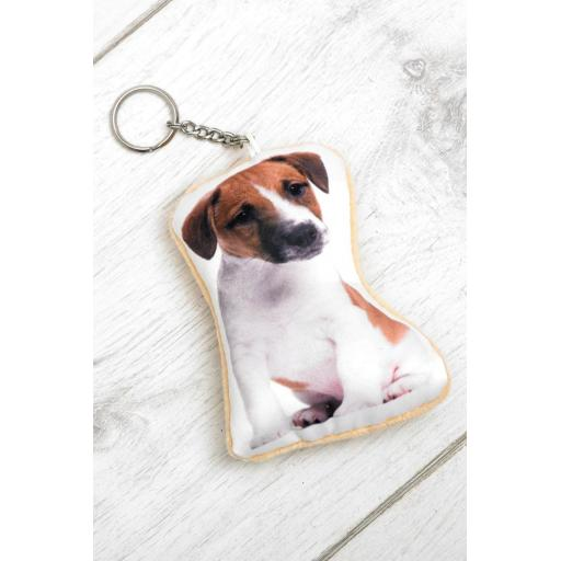 Jack Russell Shaped Image Key Ring