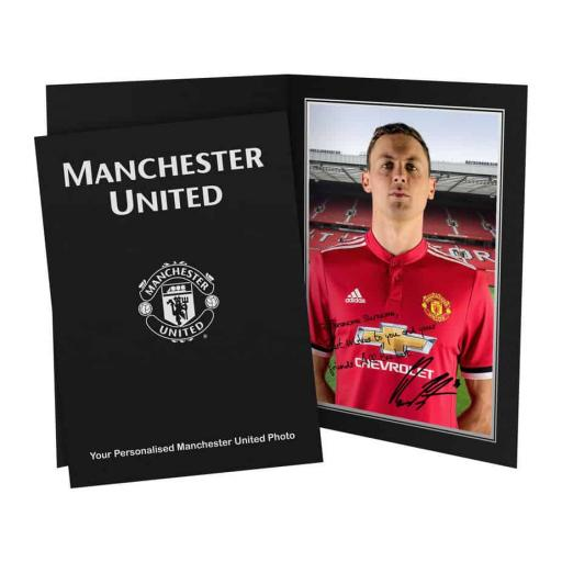 Official Personalised Manchester United FC Matic Autograph Photo Folder