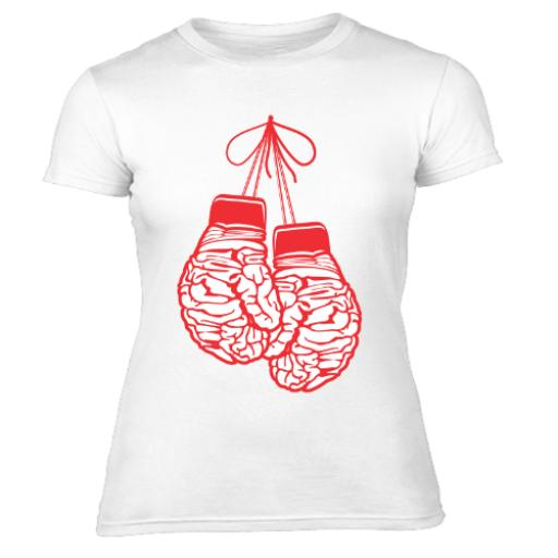 Brainy Boxer Graphic Women's T-Shirt