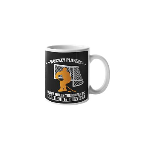 Hockey Player 11 oz Ceramic Mug Novelty Design Funny Gift For Ice Hockey Player