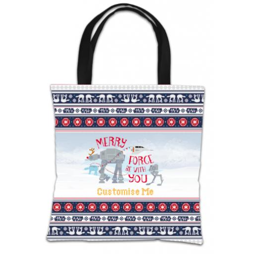 "Star Wars Classic ""Merry Force Be With You"" Christmas Tote Bag"