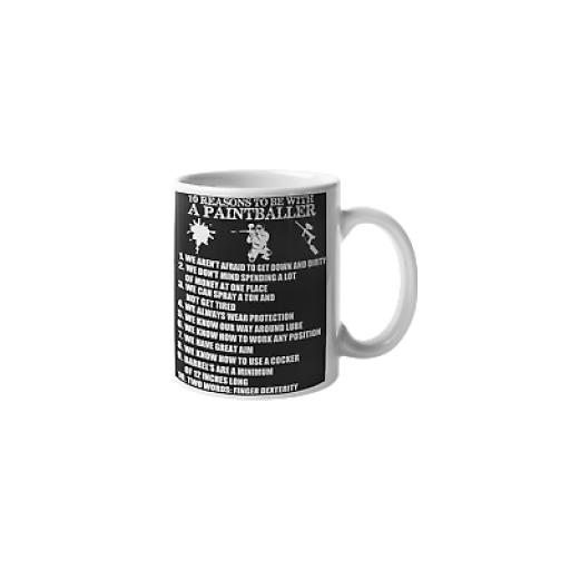 10 Reasons To Be A Paintballer 11 oz Mug Ceramic Novelty Paintball Gift