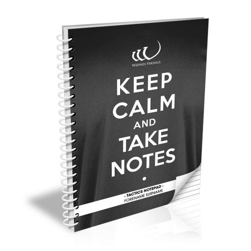 Widnes Vikings Keep Calm Notebook