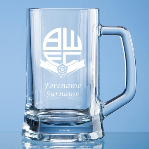 Bolton Wanderers FC Crest Small Plain Straight Sided Tankard