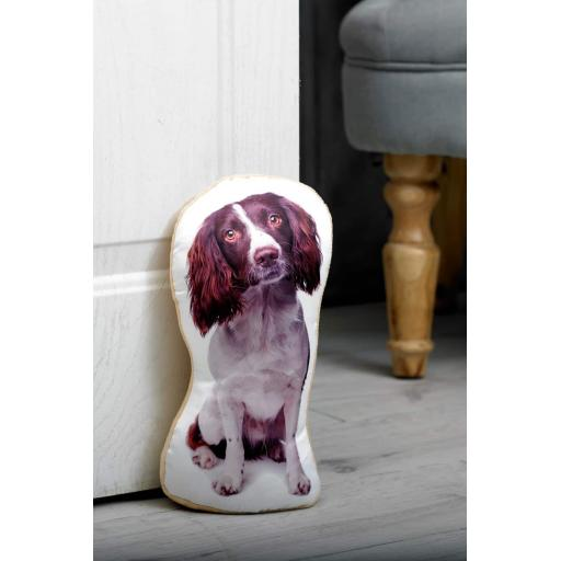 Attention Springer Spaniel Lovers-Vivid Image Springer Spaniel Shaped Doorstop