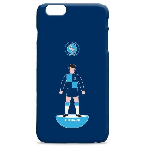 Wycombe Wanderers Player Figure Hard Back Phone Case