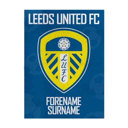 Leeds United FC Crest Blanket (150cm x 110cm)