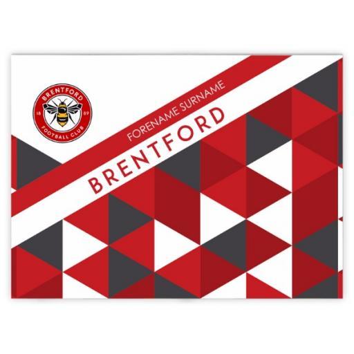 Brentford FC Patterned Blanket (100cm X 75cm)