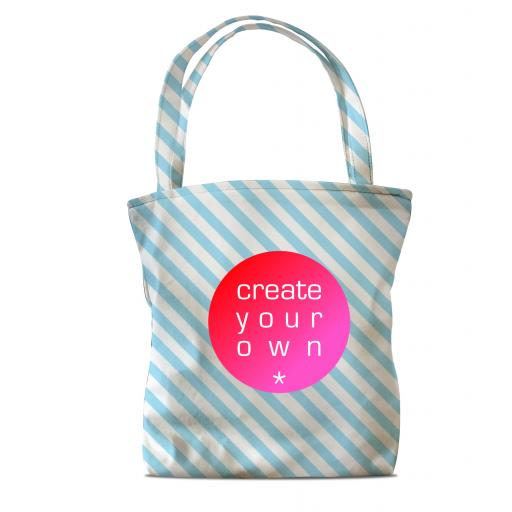 Create Your OwnTote Bag - Standard - Canvas - Full Colour With Colour Changing Handles