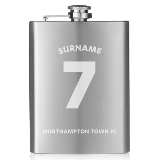 Northampton Town FC Shirt Hip Flask