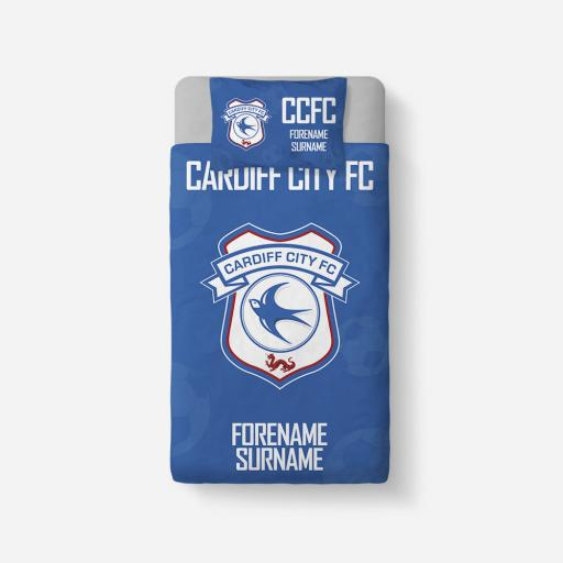 Cardiff City FC Crest Duvet Cover & Pillowcase