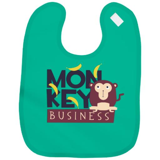 Cute Monkey Baby Bib Boy Girl Parent Grandparent Gift Shower Humour Funny