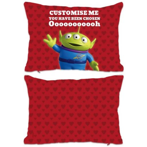 Disney Toy Story Valentines Alien You Have Been Chosen Extra Large Fiber Cushion