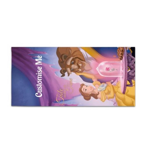 Disney Beauty And The Beast Picture Scene Large Towel