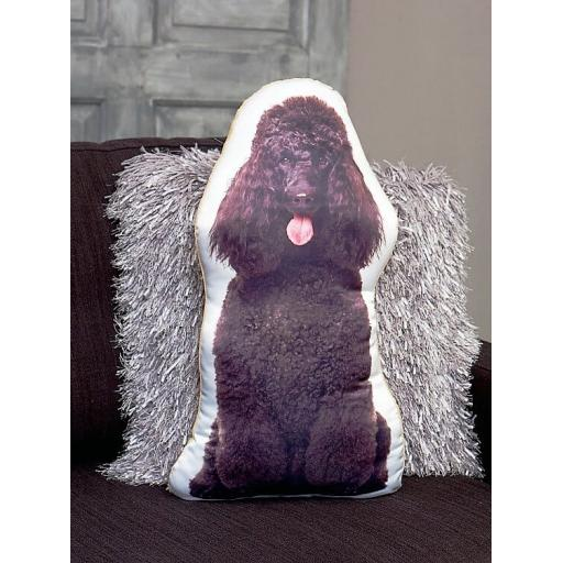 Black Poodle Shaped Cushion Perfect Gift For Dog Lovers
