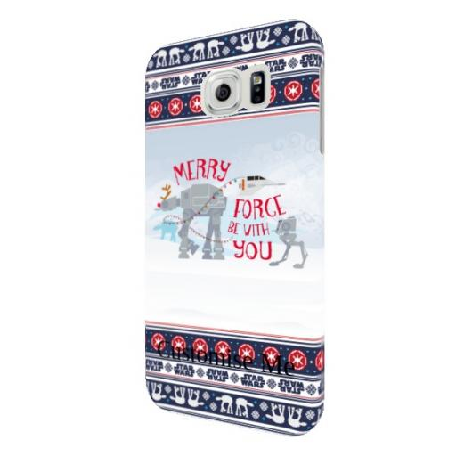 """Star Wars Classic """"Merry Force Be With You"""" Christmas Samsung Galaxy S6 Clip Case"""