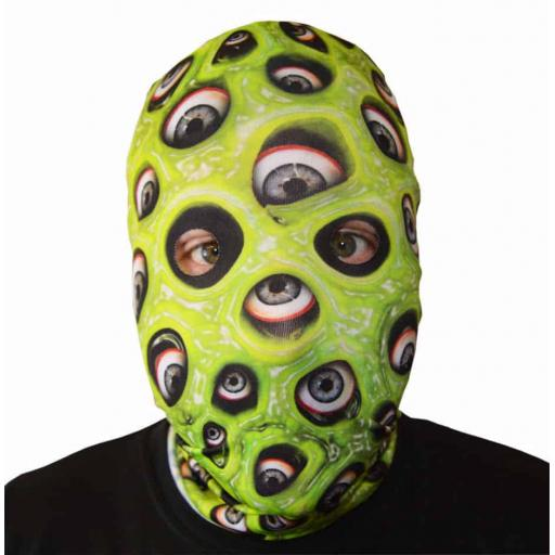 Slime Eyes Monster Mask - Light Weight- Breathes- Great For Halloween & Parties