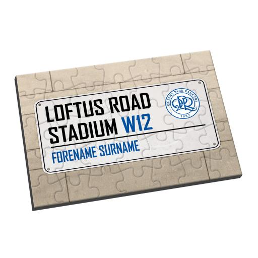 Queens Park Rangers FC Street Sign Jigsaw