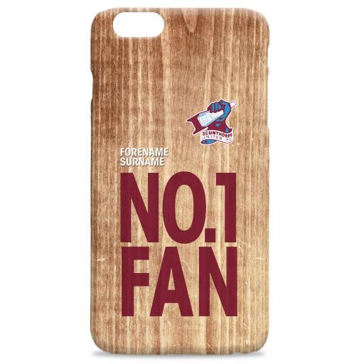 Scunthorpe United No 1 Fan Hard Back Phone Case