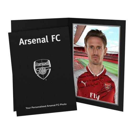 Arsenal FC Monreal Autograph Photo Folder