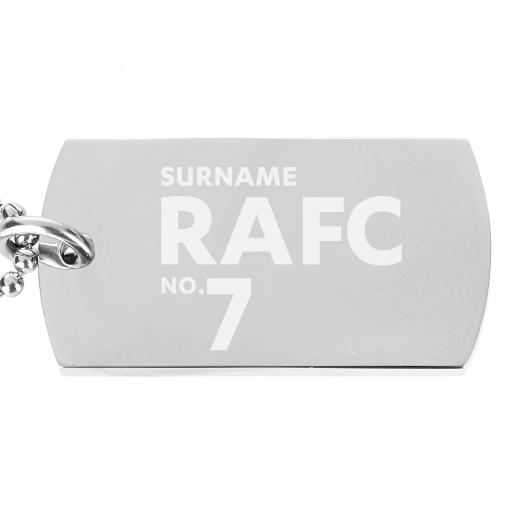 Rochdale AFC Number Dog Tag Pendant