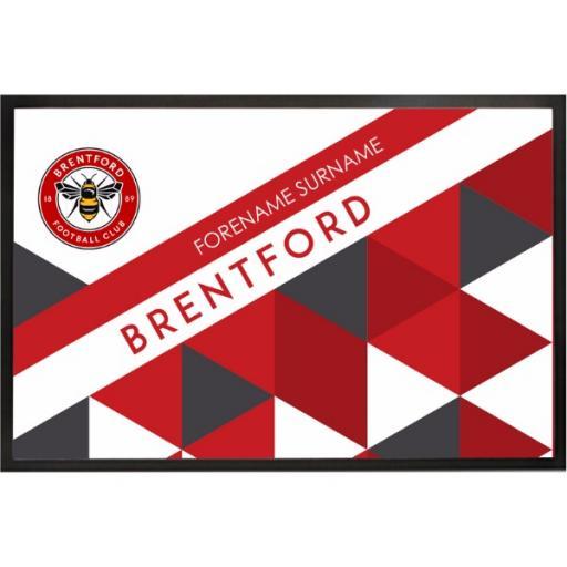 Brentford FC Patterned Door Mat