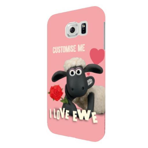 Shaun The Sheep Valentines 'I Love Ewe' Samsung Galaxy S6 Clip Case