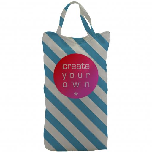 Tote Bag – Wine – Canvas – Full Colour With Coloured Handles
