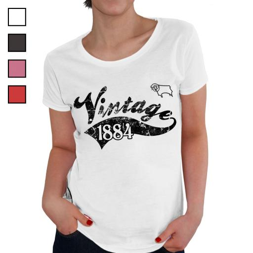Derby County Ladies Vintage T-Shirt
